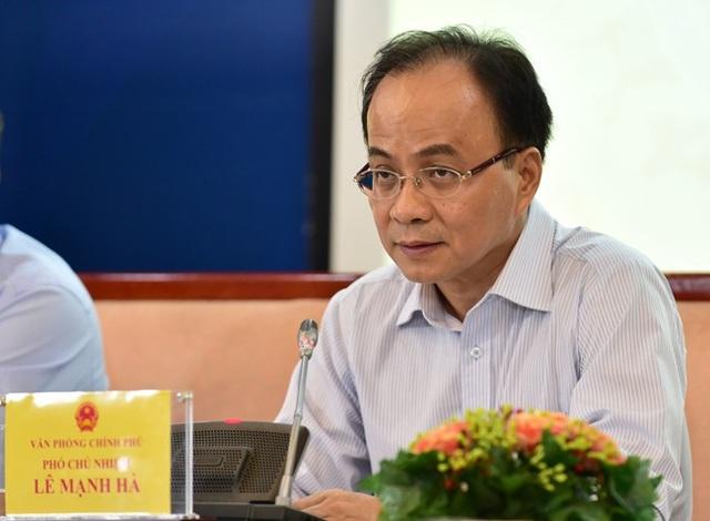 Ông Lê Mạnh Hà - nguyên Phó Chủ nhiệm Văn phòng Chính phủ