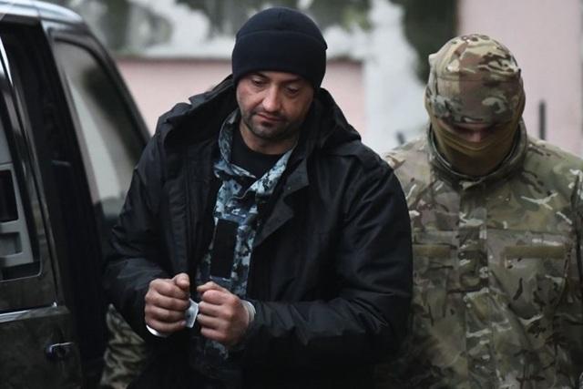Thuỷ thủ Ukraina bị bắt vì xâm nhập lãnh hải Nga. Ảnh: Sputnik