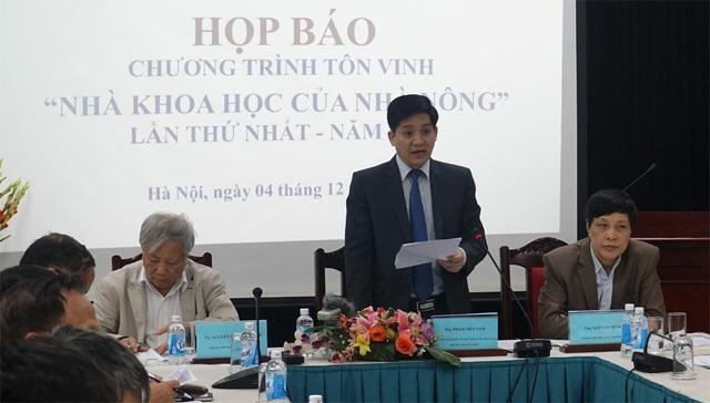 Ông Phạm Tiến Nam - Phó Chủ tịch BCH Trung ương Hội Nông dân Việt Nam phát biểu tại cuộc họp báo.