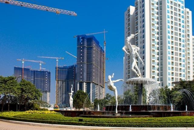 Ngoài vị trí đắc địa, kiến trúc độc đáo, thiết kế hiện đại cũng là một trong những điểm nhấn đắt giá của Sunshine City.