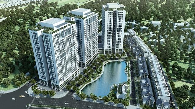Dự án Hateco Apollo sở hữu hồ điều hòa nội khu rộng 3000 m2
