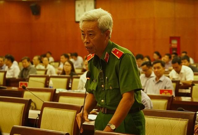Thiếu tướng Phan Anh Minh - Phó Giám đốc Công an TPHCM, đã có báo cáo quan trọng trước các đại biểu về hoạt động tín dụng đen đang hoành hành ở thành phố
