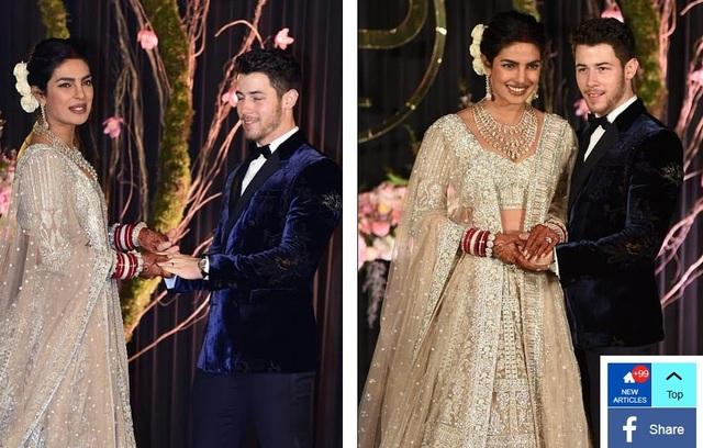 Priyanka giải thích thêm: Đối với đám cưới phong cách Ấn Độ, tôi mặc Sabyasachi. Tôi luôn muốn có một trang phục truyền thống màu đỏ cho đám cưới của mình nhưng váy của tôi có những bức tranh thêu Pháp kết hợp với đồ trang sức đáng rất đẹp và tấm voan lấy cảm hứng từ phương Tây.