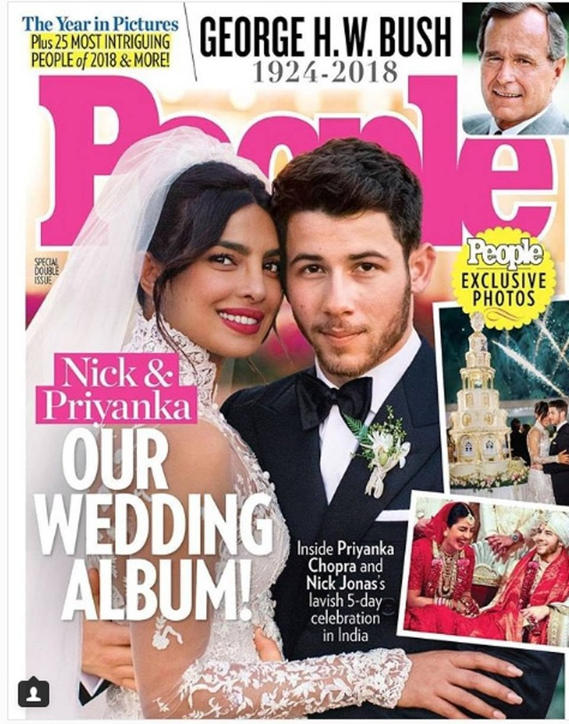Priyanka Chopra và chồng kém 10 tuổi Nick Jonas trên bìa tạp chí People số mới nhất