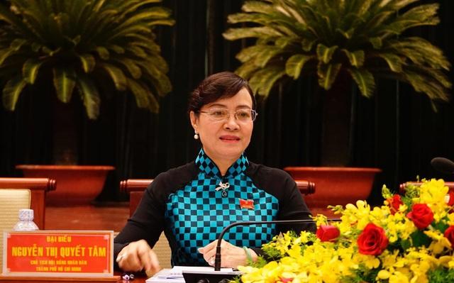 Chủ tịch HĐND TPHCM Nguyễn Thị Quyết Tâm yêu cầu xử lý ngay việc gắn đồng hồ nước cho dân ngay sau kỳ họp này