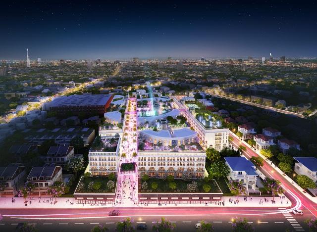 D-One nằm trên đường Phan Văn Trị và Dương Quảng Hàm, hai con đường sầm uất của quận.