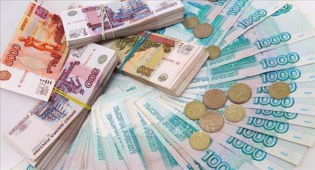 Đồng ruble của Nga. Ảnh: Sputnik/TTXVN