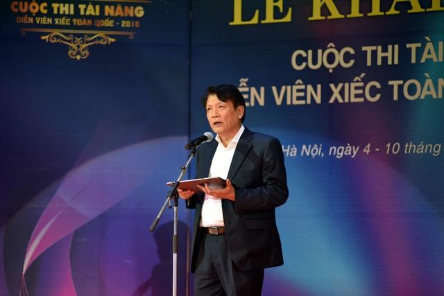 NSND Nguyễn Quang Vinh, Quyền Cục trưởng Cục NTBD phát biểu trong lễ khai mạc.