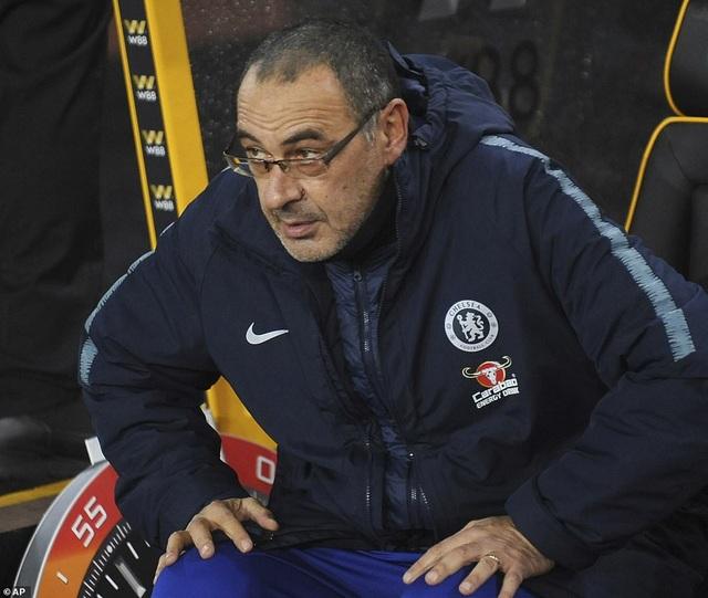 Sarri đã nếm trải trận thua thứ hai từ đầu mùa