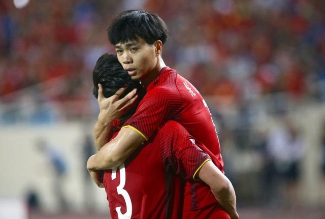 Công Phượng là cầu thủ nhiều kinh nghiệm nhất trên hàng tiền đạo đội tuyển Việt Nam, anh có 26 lần khoác áo đội tuyển quốc gia, ghi được 6 bàn thắng (ảnh: Anh Hải)