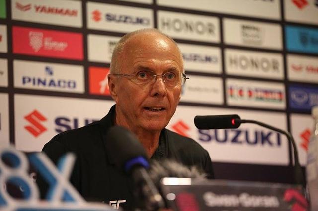 HLV Eriksson tâm phục khẩu phục sau trận thua thứ hai trước Việt Nam
