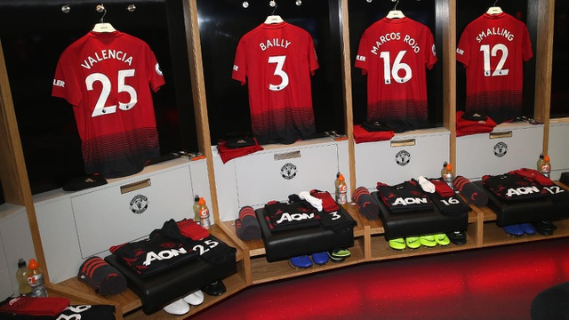 Trong phòng thay đồ của các cầu thủ Man Utd