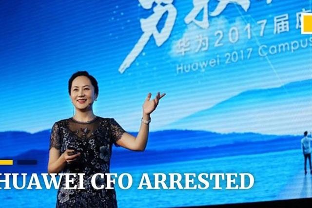 Bà Mạnh Vạn Châu bị bắt ở Canada. Ảnh: YouTube