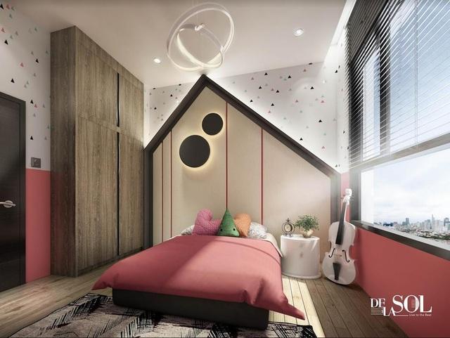 Phòng ngủ sáng sủa, thoáng mát trong căn hộ cao cấp Cello