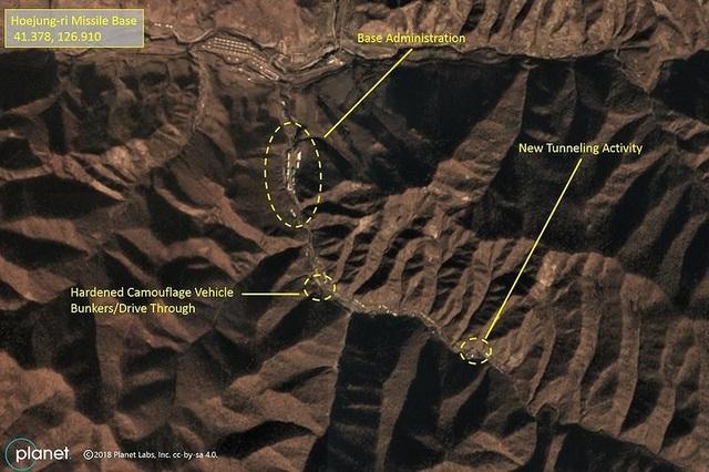 Ảnh chụp vệ tinh về cơ sở tên lửa đáng ngờ của CHDCND Triều Tiên. Ảnh: NPR