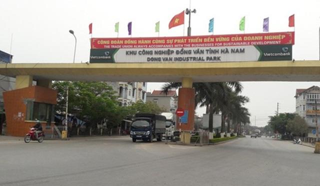 Khu công nghiệp Đồng Văn, huyện Duy Tiên, tỉnh Hà Nam (Ảnh: CTV).