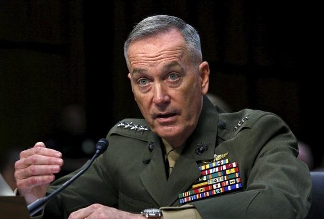 Chủ tịch Hội đồng Tham mưu trưởng Liên quân Mỹ Joseph Dunford. (Ảnh: Reuters)