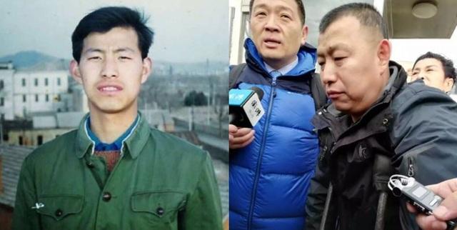 Jin Zhelong năm 27 tuổi khi anh chưa bị bắt giữ (trái) và thời điểm hiện tại khi được trả tự do
