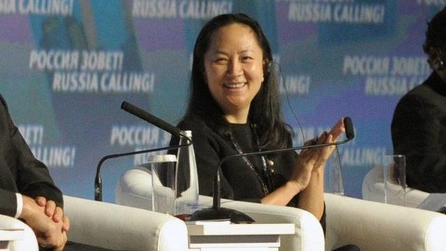 Bà Meng Wanzhou tại một diễn đàn ở thủ đô Moscow - Nga Ảnh: TASS