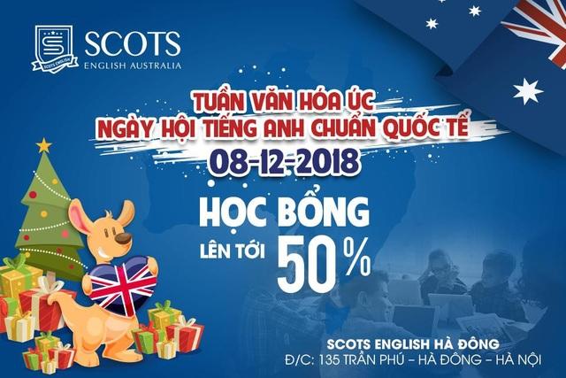 Ưu đãi lên đến 50% học phí tại Scots English Hà Đông từ ngày 1/12 - 8/12/2018.