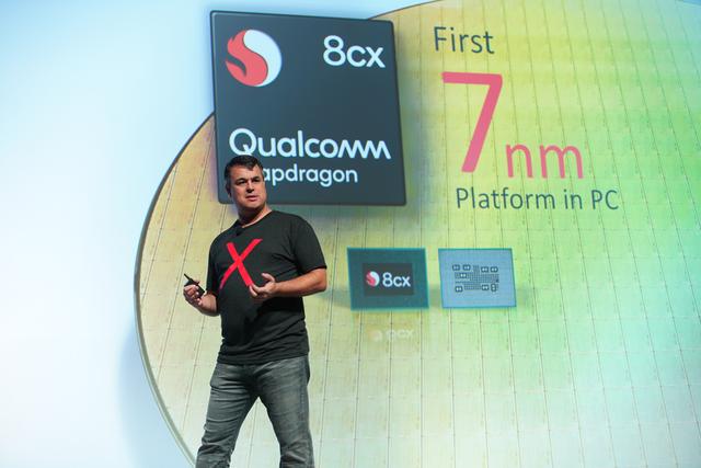Nền tảng vi xử lý Qualcomm Snapdragon 8cx - nền tảng PC 7 na-nô-mét đầu tiên trên thế giới chính thức được giới thiệu trong phiên cuối của Hội nghị.