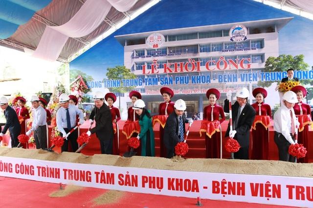 Lễ khởi công Trung tâm Sản phụ khoa được diễn ra tại Bệnh viện Trung ương Huế