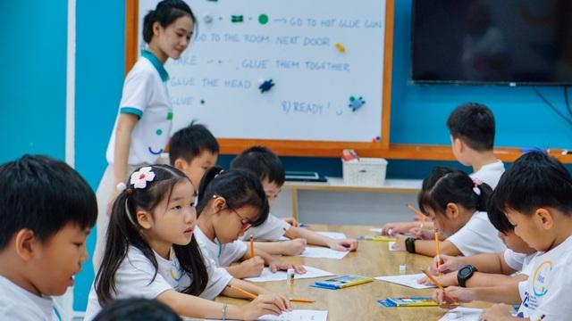 Học sinh tham gia học lớp học Phần Lan mẫu sáng ngày 8/12 tại trường ĐH Tôn Đức Thắng