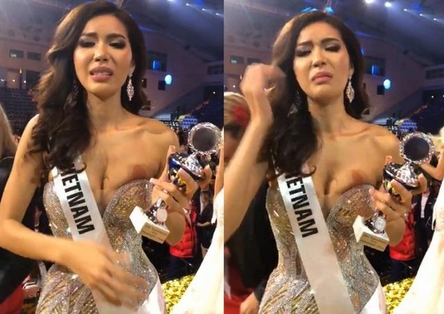 Minh Tú rơm rớm nước mắt khi gửi lời xin lỗi đến người hâm mộ trong nước sau đêm chung kết Hoa hậu Siêu quốc gia tối 7/12.