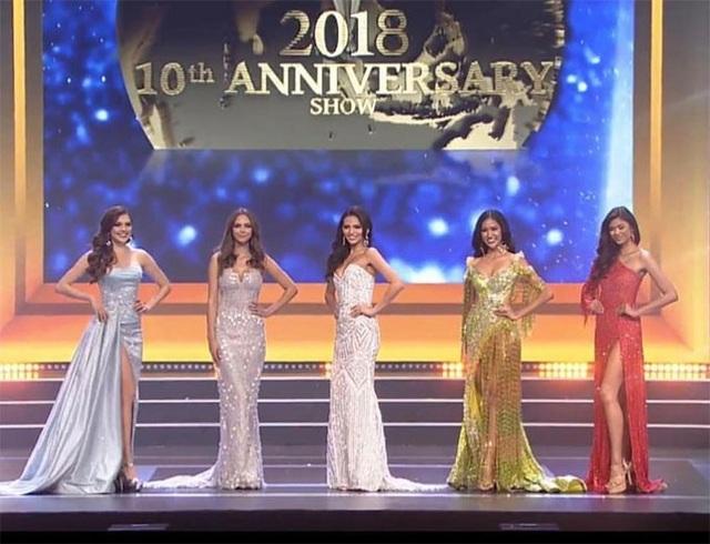Top 5 người đẹp lọt vào chung kết Hoa hậu Siêu quốc gia đến từ Mỹ, Puerto Rico, Ba Lan, Indonesia và Mexico