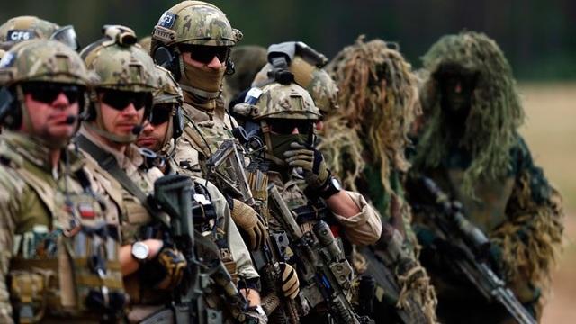 Các thành viên đội đặc nhiệm Ba Lan tham gia cuộc tập trận của NATO tại vùng tây bắc Ba Lan năm 2014. (Ảnh: Reuters)
