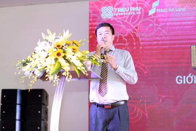 Đại diện chủ đầu tư Ông Vũ Văn Giản Tổng giám đốc Phúc Hà Group phát biểu tại sự kiện.