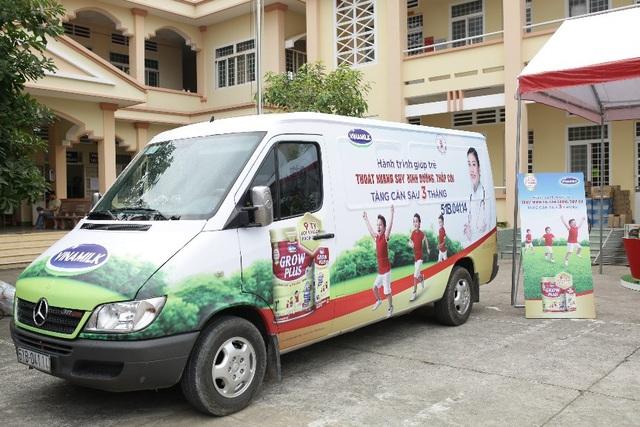 Chiếc xe biểu tượng của hành trình; theo đó, hành trình sẽ diễn ra từ tháng 11/2018 đến tháng 03/2019 tại 10 tỉnh, thành. Mỗi nơi, nhãn hàng Dielac Grow Plus sẽ có các hoạt động chuyên môn lẫn sinh hoạt, vui chơi cùng các trẻ em.