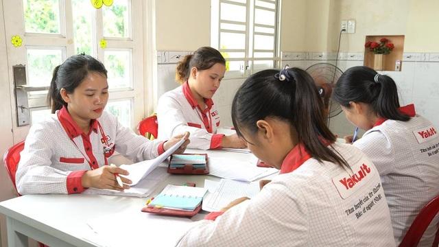 Các Yakult Lady trong một buổi tập huấn tại Trung tâm Yakult Lady Tô Ký