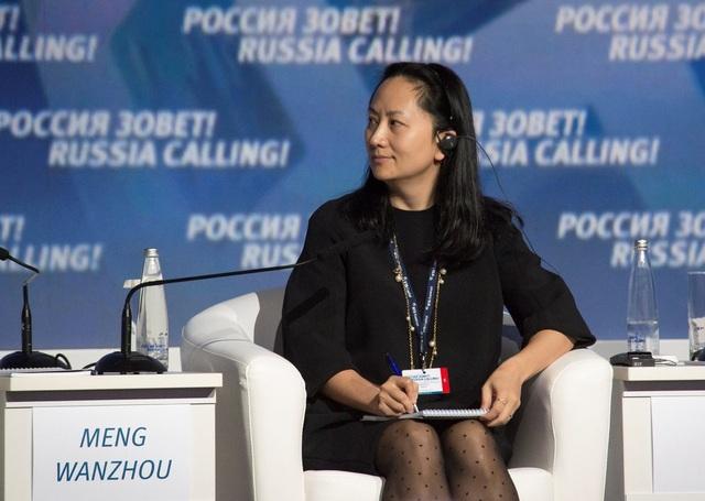 Giám đốc tài chính Huawei Mạnh Vãn Chu (Ảnh: AFP)
