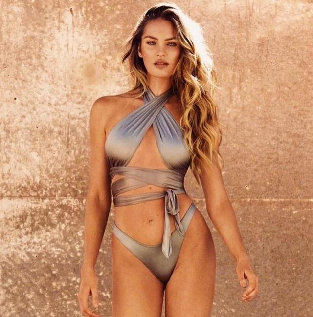 Candice Swanepoel khoe dáng trong bộ sưu tập áo tắm do cô là nhà thiết kế