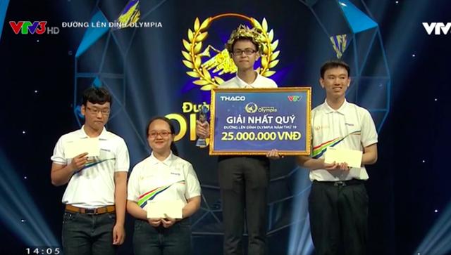 Thế Trung (Nghệ An) giành chiếc vé đầu tiên vào chơi trận Chung kết năm Đường lên đỉnh Olympia.