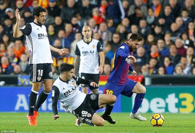 Barcelona luôn chơi rất hay khi đối đầu Valencia