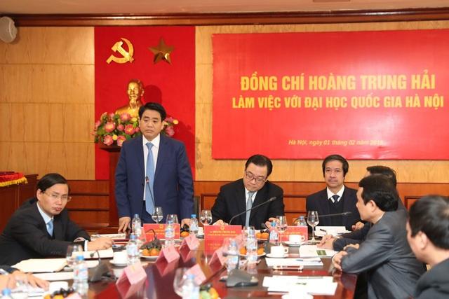 Chủ tịch TP.Hà Nội Nguyễn Đức Chung phát biểu tại hội nghị