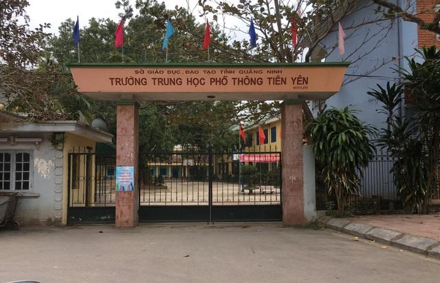 Thông tin Trường THPT Tiên Yên (huyện Tiên Yên, tỉnh Quảng Ninh) có thể sẽ bị chuyển từ mô hình công lập sang dân lập khiến thầy trò hoang mang.