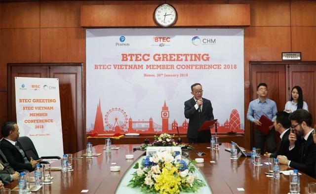 Ông Lê Tuấn Dũng - Chủ tịch Tổ chức giáo dục BTEC Việt Nam giới thiệu về sứ mệnh và tầm nhìn của Tổ chức giáo dục BTEC Việt Nam.