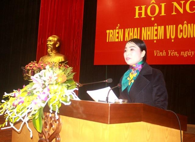 Bí thư Tỉnh uỷ Vĩnh Phúc Hoàng Thị Thuý Lan (Ảnh: Vinhphuc.gov.vn).