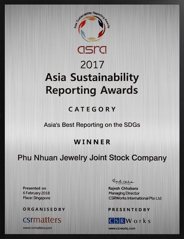 Báo cáo bền vững tốt nhất châu Á xướng tên một doanh nghiệp Việt Nam - 1