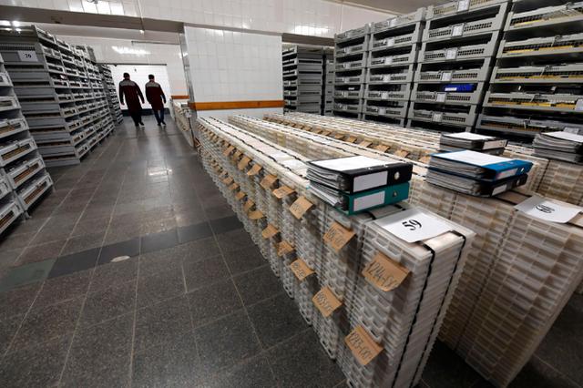 Sự ngăn nắp và quy củ bên trong kho dự trữ vàng của Nga.