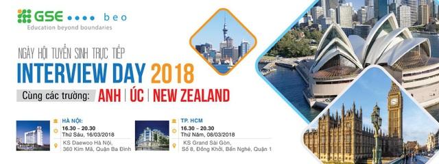 Con đường du học Anh, Úc và New Zealand ngắn nhất từ ngày hội tuyển sinh Interview Day 2018 - 1