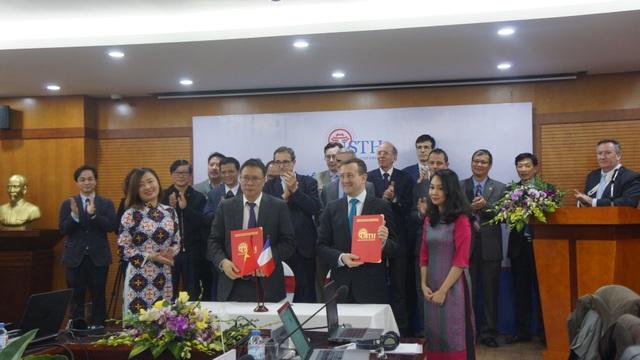 Viện Hàn Lâm Khoa học & Công nghệ Việt Nam và Đại sứ quán Pháp đã ký Ý định thư về việc phát triển USTH