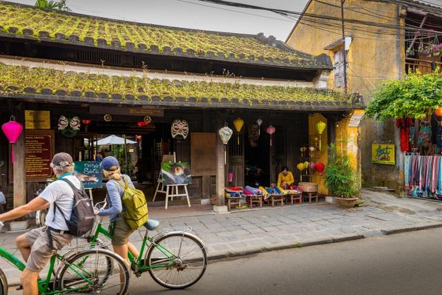 Xuân xanh trên những mái nhà cổ kính khiến nhiều du khách dừng chân ngẩn ngơ