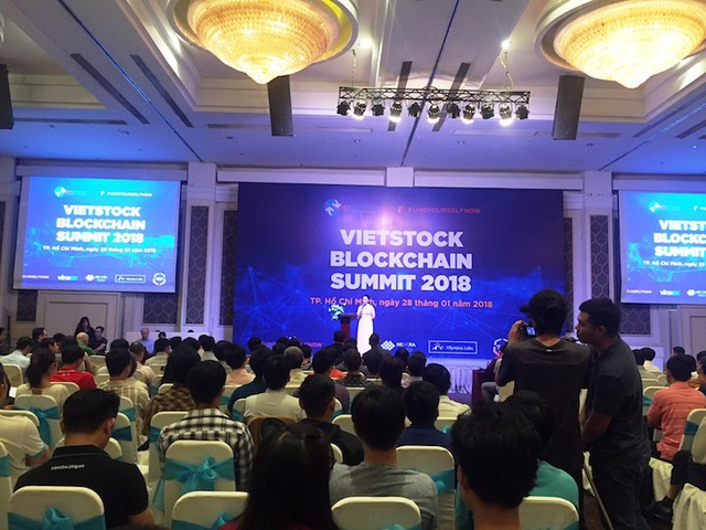 Hội nghị Vietstock Blockchain Summit 2018 diễn ra tại TPHCM.