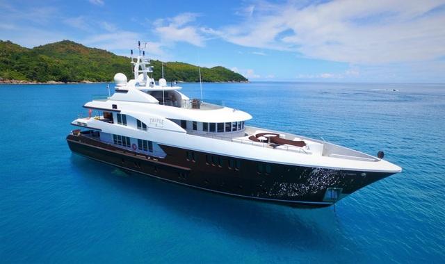 Du thuyền xa xỉ Triple 8 dài hơn 43m, chứa được 11 người. (Nguồn: BI)