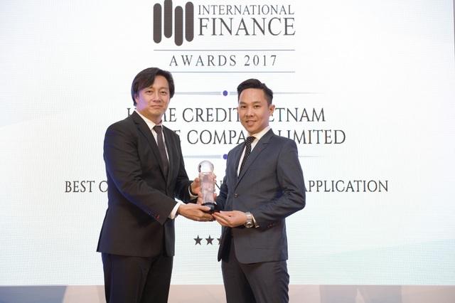 Home Credit nhận giải Ứng dụng tài chính tiêu dùng tốt nhất năm 2017.