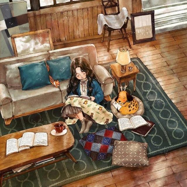 Có những ngày chỉ muốn ngồi bó gối đọc sách như thế thôi